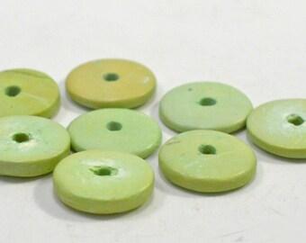 Wood  rondelles, 2 colors, 15mm - #0060/#141