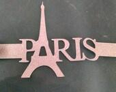 Paris with Eiffel tower napkin rings set of twelve