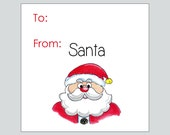 Santa Gift Tags ~ INSTANT DOWNLOAD ~ printable gift favor tags