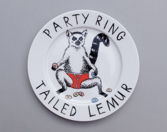 Ring Tailed Lemur side plate