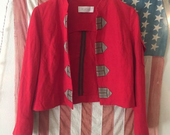 Red Military Jacket Kate Moss