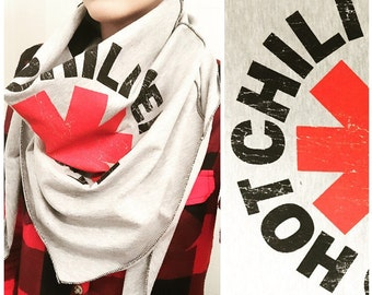 Red Hot Chilli Peppers graphic triangle scarf