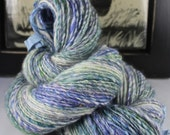 HandspunYarn Gently Thick and Thin Single Fine Shetland and Mohair 'Inspiration'