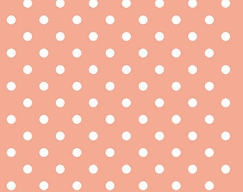 Peach Polka Dot Beverage OR Luncheon Napkin 3ply package of 20