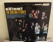 Reduced Price - Rolling Stones vinyl record - Original - Got Live if you want it Vinyl - Vintage record lp in Very Good Plus Plus