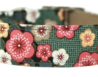 Cherry Blossoms in Pink Dog Collar