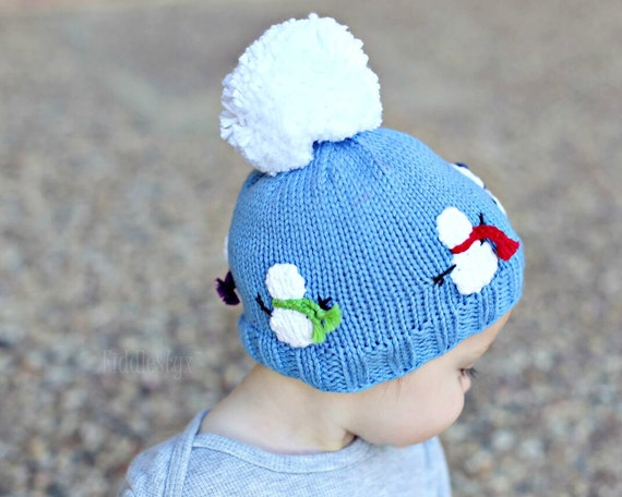 Knitting Pattern For Baby Snowman Hat : Hat Knitting Pattern - Snowman Hat Pattern - the OLAF Hat (Newborn, Baby, Tod...