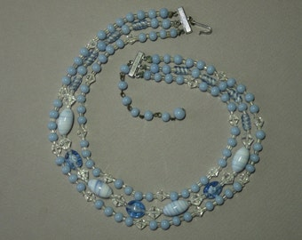 Vintage Sky Blue Necklace