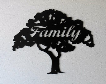 Family Tree Metal Wall Decor