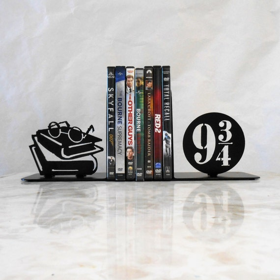 9 3/4, Metal Bookends, Dumbledore, Harry Potter, Movies, Books, Organizer, Metal Art, Shelf Decor