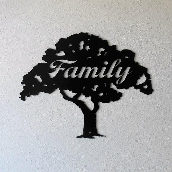 Family Tree Metal Wall Decor