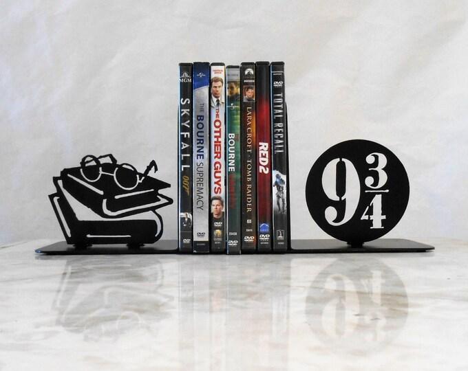 Metal Art Bookends, Movies, Books, Organizer, Metal Art, Shelf Decor