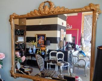 Reserved for Rina Large ornate mirror gold regency vintage antique gilt