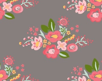 Organic DOUBLE GAUZE Fabric - Monaluna Bloom - Posie Double Gauze