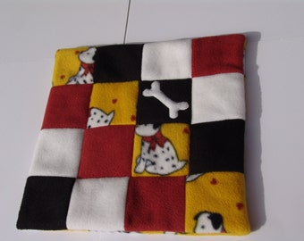 XS Fleece dog blanket - spotted dogs