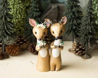 Deer Wedding Cake Topper by Bonjour Poupette