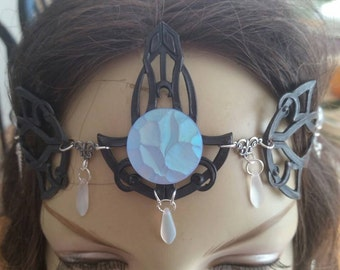 Frosty Circlet of the Winters Night Dark Elf priestess celtic cosplay bridal