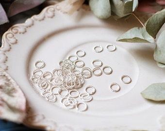 10PCS of 990 handmade silver -spiral circle