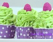 Pear Berry Bubble Bath Cupcake Bath Bomb Fizz Fizzy Fall Gift Autumn Gift