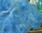 Sari Silk Fibre Waste Blending Fibers Crafting Fibers Pretty Sky Blue Colorway