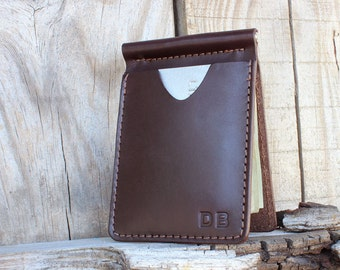 Money Clip Wallet, Personalized Money Clip Wallet, Leather Money Clip Wallet, Men's Wallet with Money Clip, Men's Money Clip Wallet