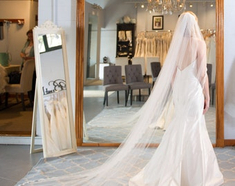"""Cathedral Lace Wedding Veil - 108"""" - Margaret"""