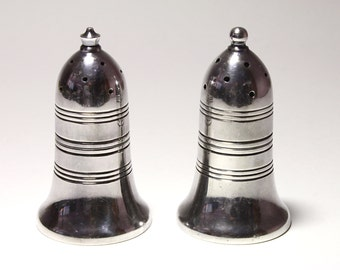 Vintage English Silver Plated Hallmarked Salt & Pepper Shakers - circa 1950's