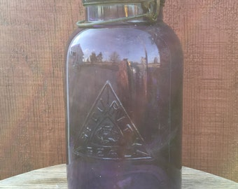 Vintage Royal Purple Mason Jar