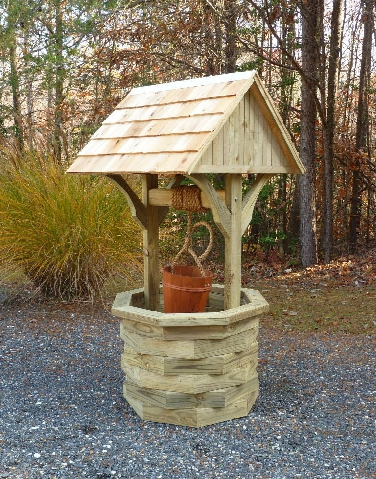 Woodworking Plans - 6 ft. Wishing Well - Illustrated with Photos! from johnmarc33 on Etsy Studio