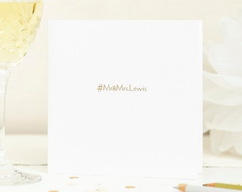 Personalised Foil Printed Wedding Card