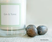 Essential Oil Soy Cotton Wick Candle- Gin and Tonic