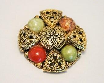 Vintage Celtic brooch.  Celtic knot brooch