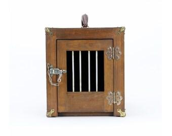 vintage handmade animal cage carrier