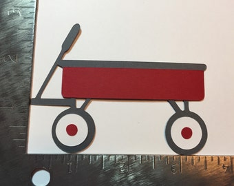 Large red wagon die cut