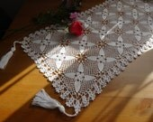 Unique Beautiful Handmade Crochet  Table Runner