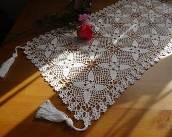 Unique Beautiful Handmade Crochet Table Runner