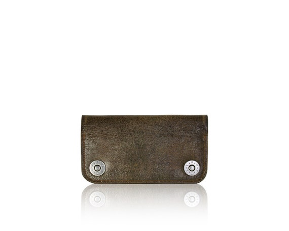 iPhone SE, iPhone 5 RETROMODERN aged leather wallet - - DARKBROWN