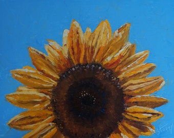 Original oil painting: Sunflower on the Rise