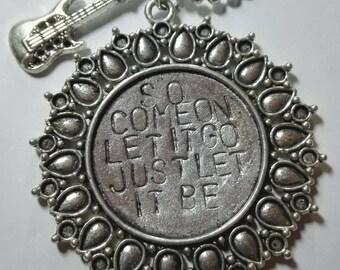 So come on, let it go Just let it be - JAMES BAY - handstamped necklace