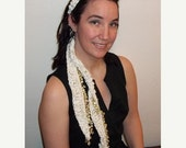 WOW Beaded Crochet Scarf, Belt, Headband, wear many ways
