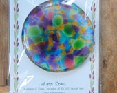 LARGE Refrigerator Magnet 100% Recycled Upcycled Glass Handmade Magnets