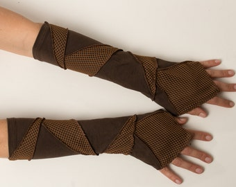 Arm warmers - patchwork - burrning man