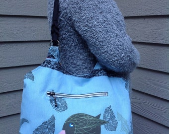 Blue Bird Shoulder Bag