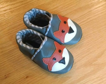 fox baby shoes 12-18 month leather size 5 shoes Mud Turtles And More
