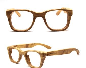 TAKEMOTO Only one olive wood  WALKER2016 handmade prescription sunglasses eyeglasses