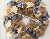 Hanukkah Wreath ~  Hanukkah Decorations ~ Star of David Wreath ~ Winter Wreath ~ Holiday Wreath ~  Hanukkah ~ Hanukkah Gift Idea ~ Wreath