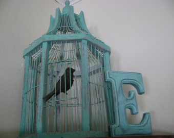Vintage Bird Cage Teal