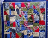 Military Veterans Throw Quilt - Military Colors