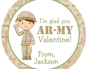 Army valentine sticker valentines sticker Valentine's Day Sticker Camo Valentine