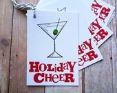 Christmas Holiday Cheer Martini Tags Cocktail Party New Year's Eve